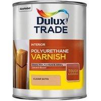 Dulux Trade Clear Satin Wood varnish 1L