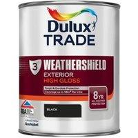 Dulux Trade Black Gloss Metal & wood paint 1