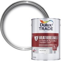 Dulux Trade Weathershield Brilliant white Metal & wood Undercoat 1L