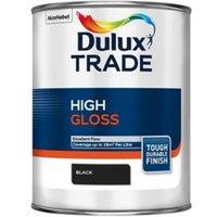 Dulux Trade Black High gloss Metal & wood paint 1L