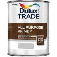 Dulux Trade Grey Metal & wood Primer & undercoat 1L