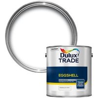 Dulux Trade Diamond Pure brilliant white Eggshell Metal & wood paint 2.5L
