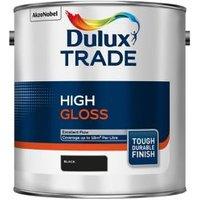 Dulux Trade Black Gloss Metal & wood paint 2.5L