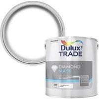 Dulux Trade Diamond Pure brilliant white Matt Emulsion paint 2.5L