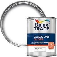 Dulux Trade Pure brilliant white Gloss Quick dry 1L
