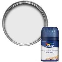 Dulux Travels In Colour Pearl Grey Flat Matt Emulsion Paint 0.05L Tester Pot
