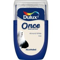 Dulux Once Almond white Matt Emulsion paint 0.03L Tester pot
