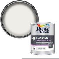Dulux Trade Diamond Pure brilliant white Satinwood Metal & wood paint 1L