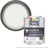 Dulux Trade Diamond Pure brilliant white Satinwood Metal & wood paint 2.5L