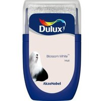 'Dulux Standard Blossom White Matt Emulsion Paint 0.03l Tester Pot