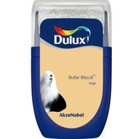 'Dulux Standard Butter Biscuit Matt Emulsion Paint 0.03l Tester Pot