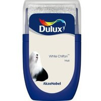 'Dulux Standard White Chiffon Matt Emulsion Paint 0.03l Tester Pot