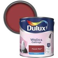 'Dulux Standard Pepper Red Matt Emulsion Paint  2.5l