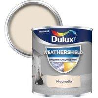 Dulux Weathershield Magnolia Smooth Matt Masonry paint 0.25L