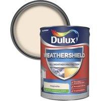 Dulux Weathershield Magnolia Smooth Matt Masonry paint 5L