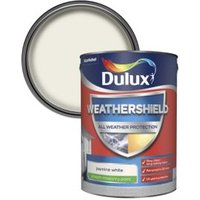 Dulux Weathershield Jasmine white Smooth Matt Masonry paint