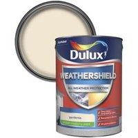 Dulux Weathershield Gardenia Smooth Matt Masonry paint 5L