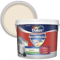 Dulux Weathershield Gardenia Smooth Matt Masonry paint 10L