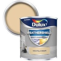 Dulux Weathershield County cream Smooth Matt Masonry paint 0.25L Tester pot