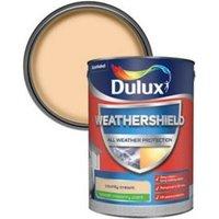 Dulux Weathershield County cream Smooth Matt Masonry paint