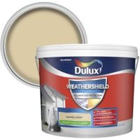 Dulux Weathershield County cream Smooth Matt Masonry paint 1