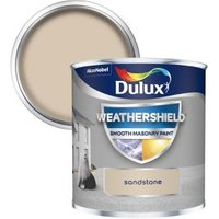 Dulux Weathershield Sandstone Smooth Matt Masonry paint  0.25L Tester pot