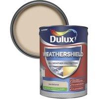 Dulux Weathershield Sandstone Smooth Matt Masonry paint 5L
