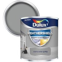 Dulux Weathershield Concrete grey Smooth Matt Masonry paint  0.25L Tester pot