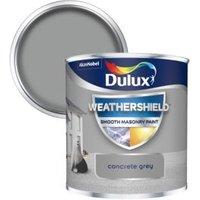 Dulux Weathershield Concrete grey Smooth Matt Masonry paint