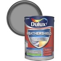 Dulux Weathershield All weather protection Concrete grey Smooth Matt Masonry paint  5L
