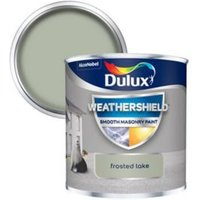 Dulux Weathershield Frosted lake Smooth Matt Masonry paint 0.25L Tester pot