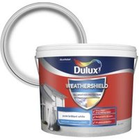 Dulux Weathershield Pure brilliant white Textured Matt Mason