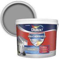 Dulux Weathershield Concrete grey Textured Matt Masonry paint 10L