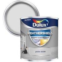 Dulux Weathershield Pale slate Smooth Matt Masonry paint  0.