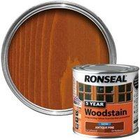 Ronseal Antique Pine High Satin Sheen Woodstain 0.25L
