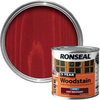 Ronseal Deep Mahogany High Satin Sheen Woodstain 0.25L