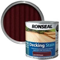 Ronseal Rich mahogany Matt Decking Wood stain  2.5L