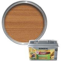 Ronseal Perfect finish Teak Lightly tinted Hardwood garden furniture oil 0.75L