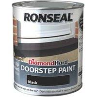 Ronseal Black Satin Doorstep paint 750ml