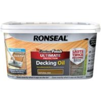 Ronseal Perfect finish Natural oak Decking oil 2.5L