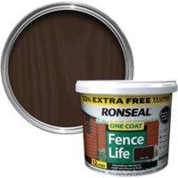 Ronseal One Coat Dark Oak Matt Shed & Fence Stain 12L