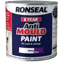 Ronseal Problem wall paints White Matt Anti-mould paint 2.5L