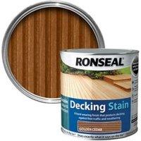 Ronseal Golden cedar Matt Decking Wood stain  5L