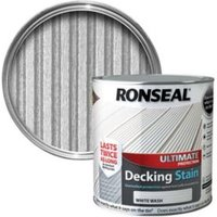 Ronseal Ultimate White Wash Matt Decking Stain 2.5L