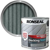Ronseal Ultimate Stone grey Matt Decking Wood stain  2.5L
