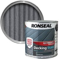 Ronseal Ultimate Charcoal Matt Decking Wood stain  2.5L
