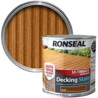 Ronseal Ultimate Teak Matt Decking Wood stain  5L