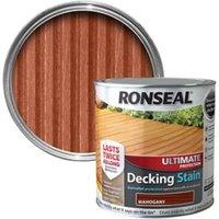 Ronseal Ultimate Mahogany Matt Decking Wood stain  5