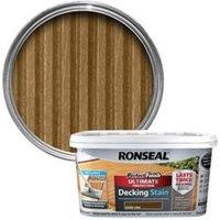 Ronseal Perfect finish Dark oak Decking Wood stain  2.5L