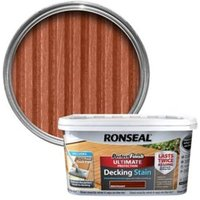 Ronseal Perfect finish Mahogany Decking Wood stain  2.5L